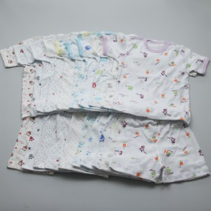 Pijama maneca scurta Rombaby - bumbac 100%